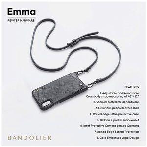 Bandolier EMMA iphone 6+/7+/8+ Black Silver Case
